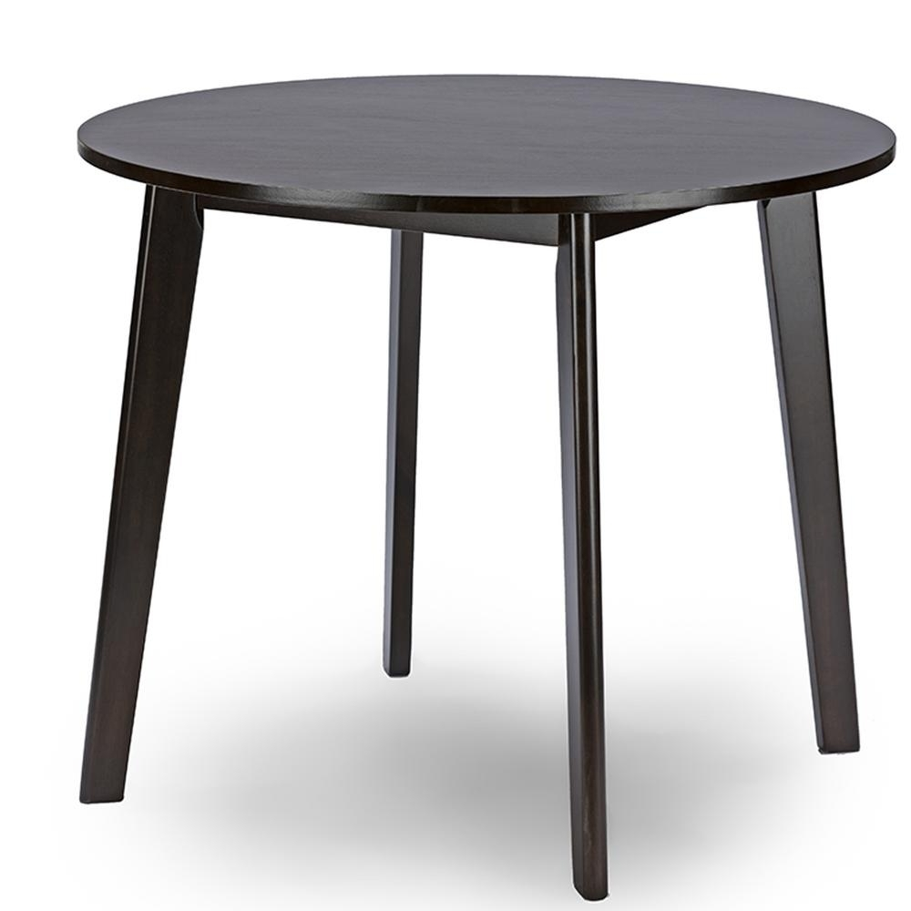 Recent Baxton Studio Debbie Dark Brown Finished Wood Dining Table-28862 throughout Dark Dining Tables