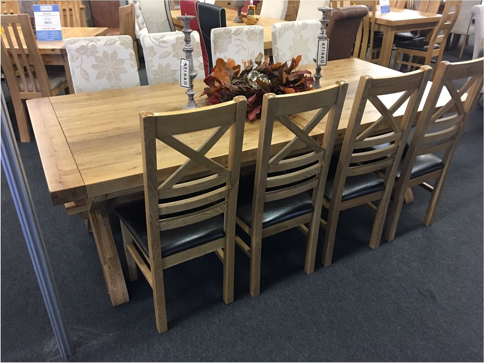 Recent Best Provence Solid Oak Extra Large Extending Dining Table Oak Throughout Provence Dining Tables (View 19 of 25)