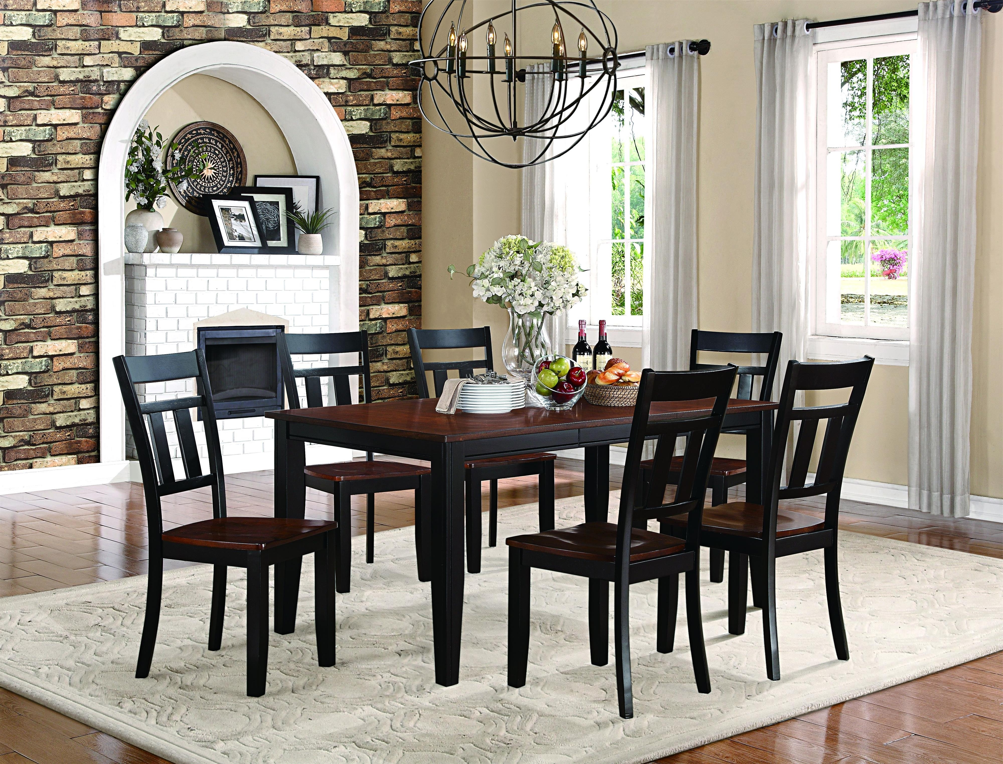 Recent Caden 5 Piece Round Dining Sets for Homelegance Westport 7 Piece Dining Set