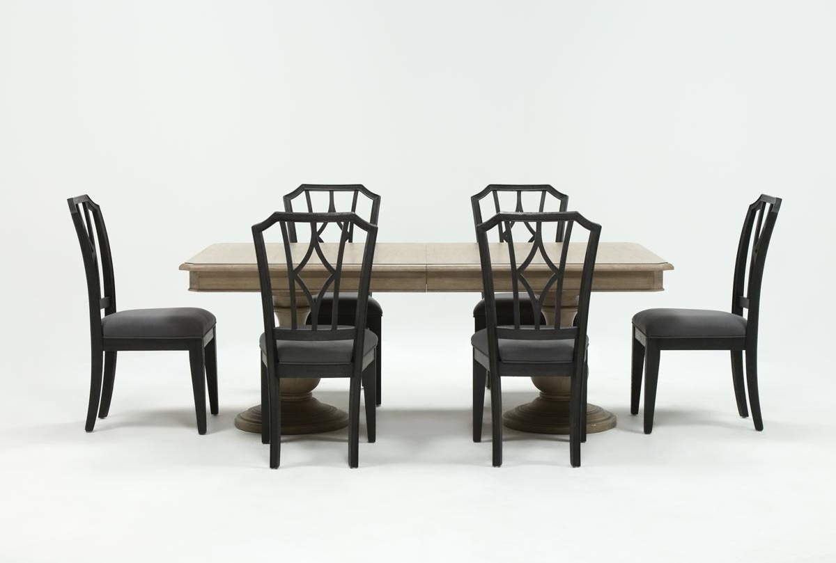 Recent Caira 7 Piece Rectangular Dining Set With Diamond Back Side Chairs In Caira 7 Piece Rectangular Dining Sets With Upholstered Side Chairs (View 1 of 25)