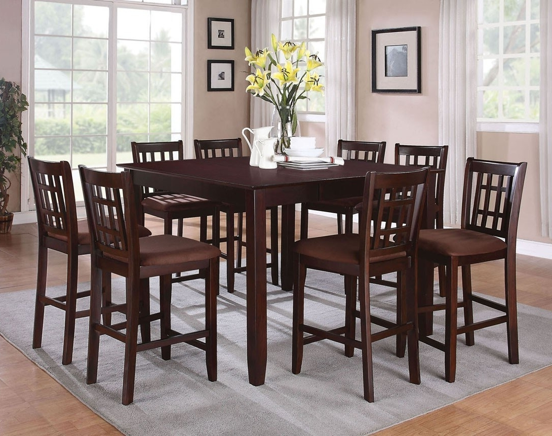 Recent Chapleau Ii 9 Piece Extension Dining Table Sets In Cheery Caira Piece Extension Set Back Chairs Caira Piece Extension (View 15 of 25)