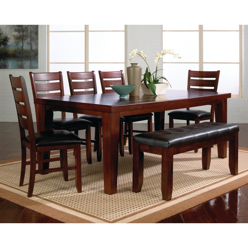 Recent Crawford 6 Piece Rectangle Dining Sets pertaining to Crown Mark Kingston Dining Room Table, Chairs & Bench (Sold At