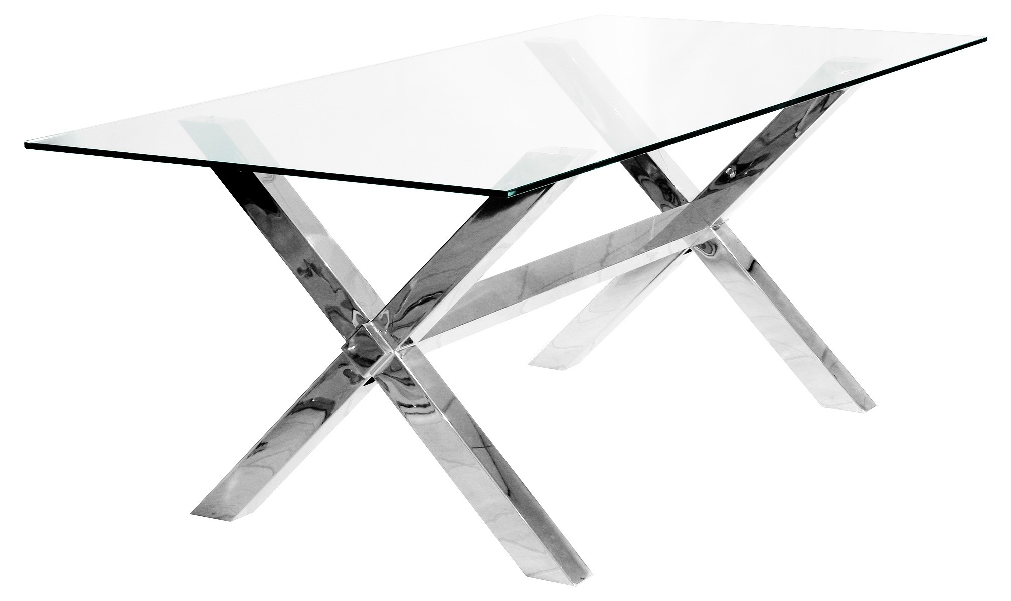 Recent Crossly Rectangular 8 Seater Dining Table – Be Fabulous! Regarding Glass Dining Tables With Oak Legs (View 22 of 25)
