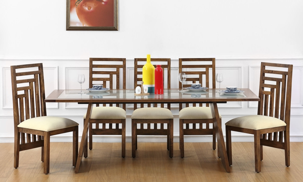 Recent Dining Tables 8 Chairs Set within Glass Top Dining Table With 8 Chairs - Glass Decorating Ideas