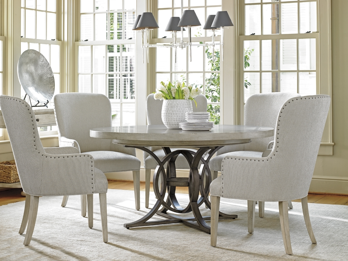Recent Dining Tables And Six Chairs Pertaining To Oyster Bay Calerton Round Dining Table (View 21 of 25)