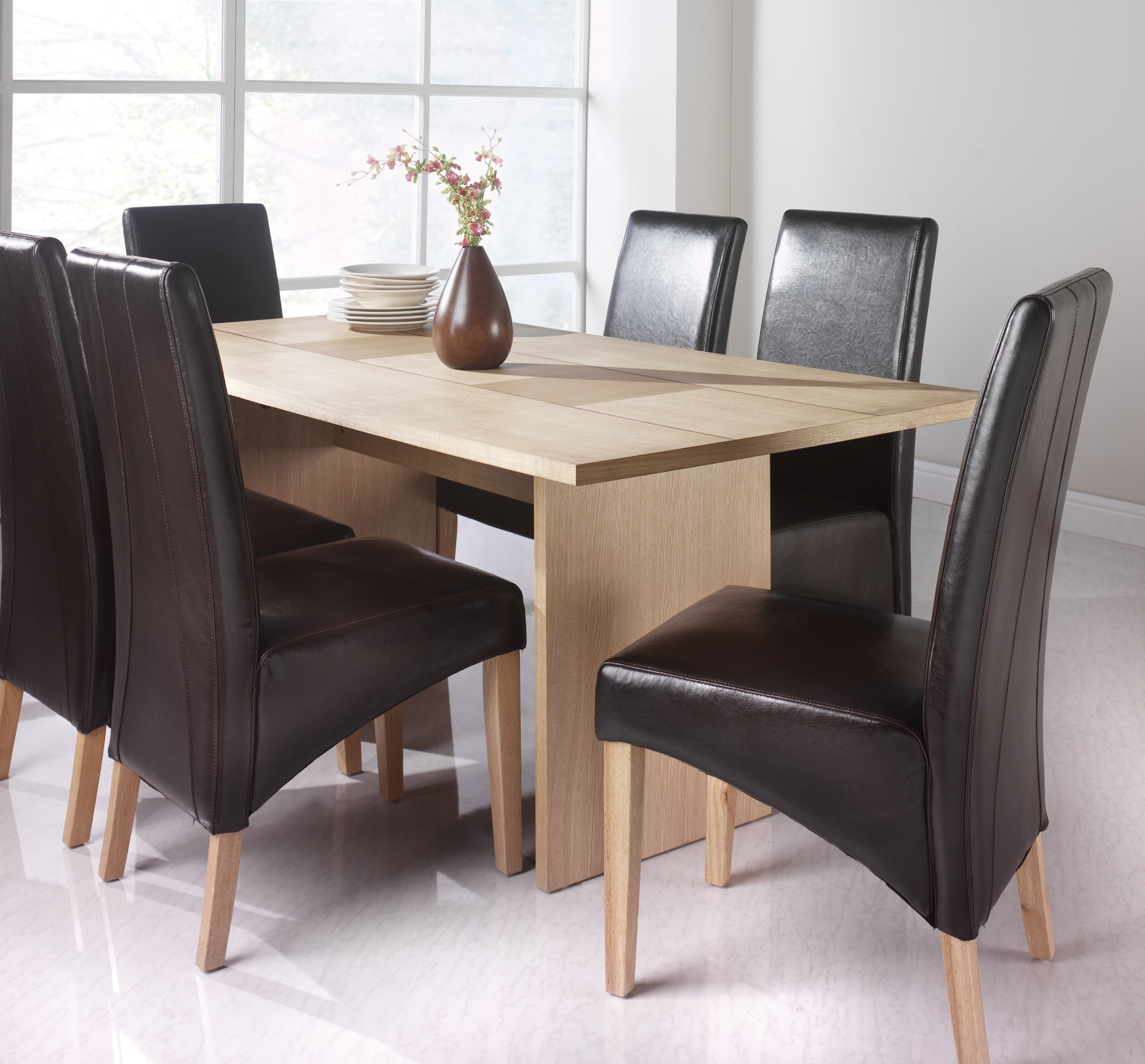 Recent Dining Tables At Aintree Liquidation Centre in Oak Dining Tables And Leather Chairs