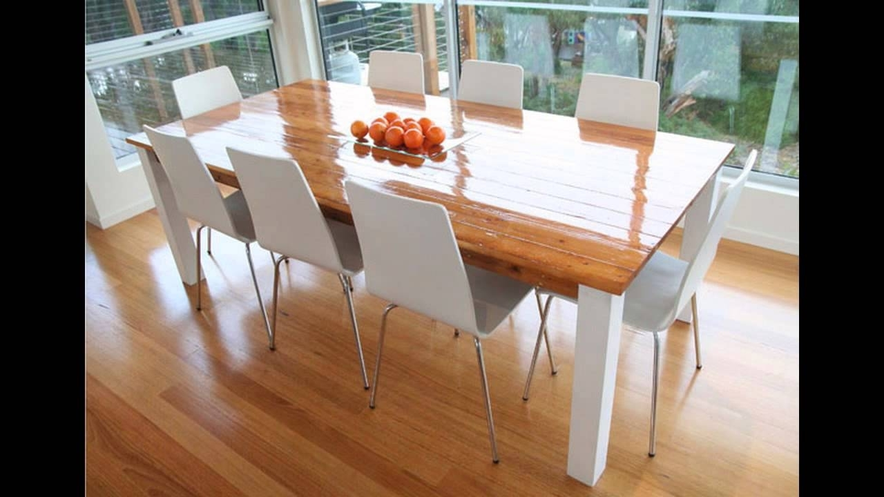 Recent Dining Tables For 8 Throughout 8 Seater Dining Table – Youtube (View 24 of 25)