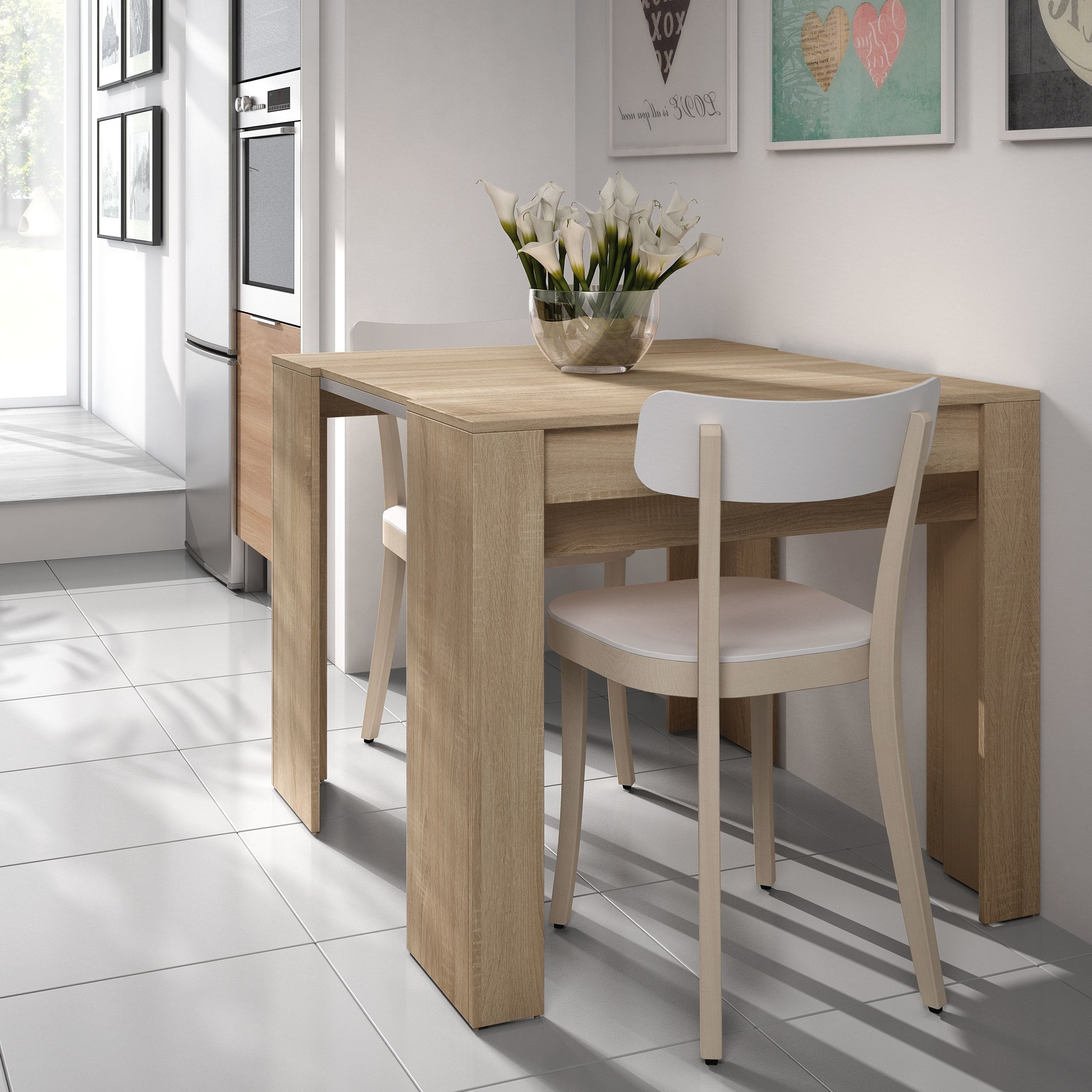 Recent Extendable Dining Sets For Luiz Extendable Dining Table (View 19 of 25)