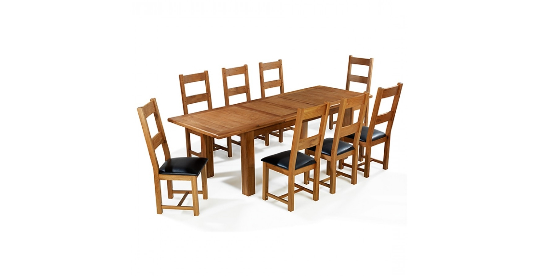 Recent Extending Dining Tables And 8 Chairs Within Emsworth Oak 180 250 Cm Extending Dining Table And 8 Chairs (View 23 of 25)