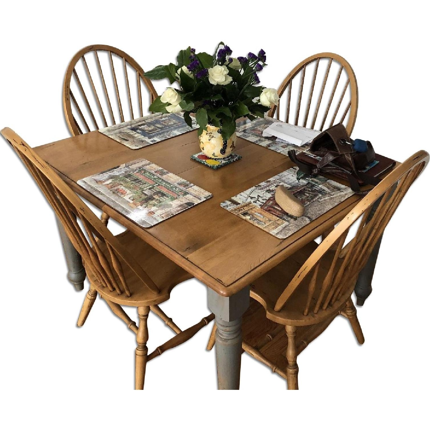 Recent French Country Dining Tables Within Domain French Country Dining Table W/ 6 Chairs – Aptdeco (View 23 of 25)
