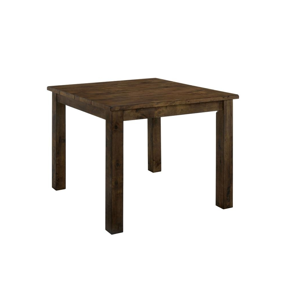 Recent Furniture Of America Adam Rustic Oak Counter Height Dining Table Idf Throughout Rustic Oak Dining Tables (View 15 of 25)