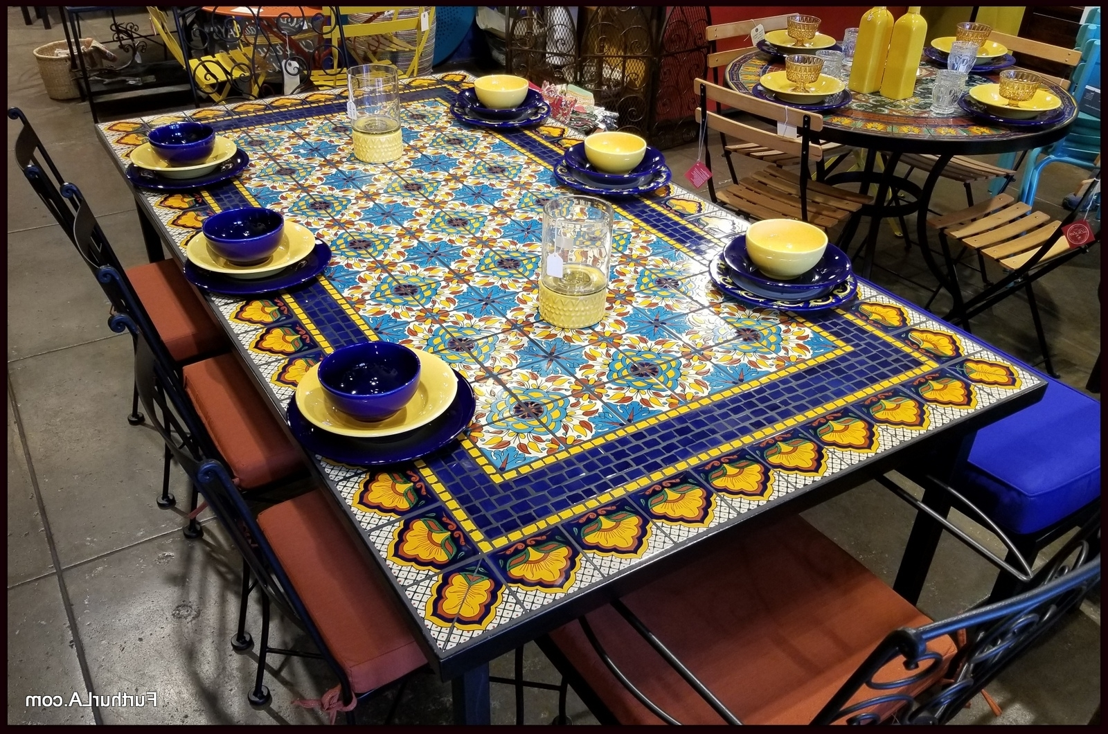 Recent Furthur Wholesale Mosaic Dining Tables With Mosaic Dining Tables For Sale (View 21 of 25)