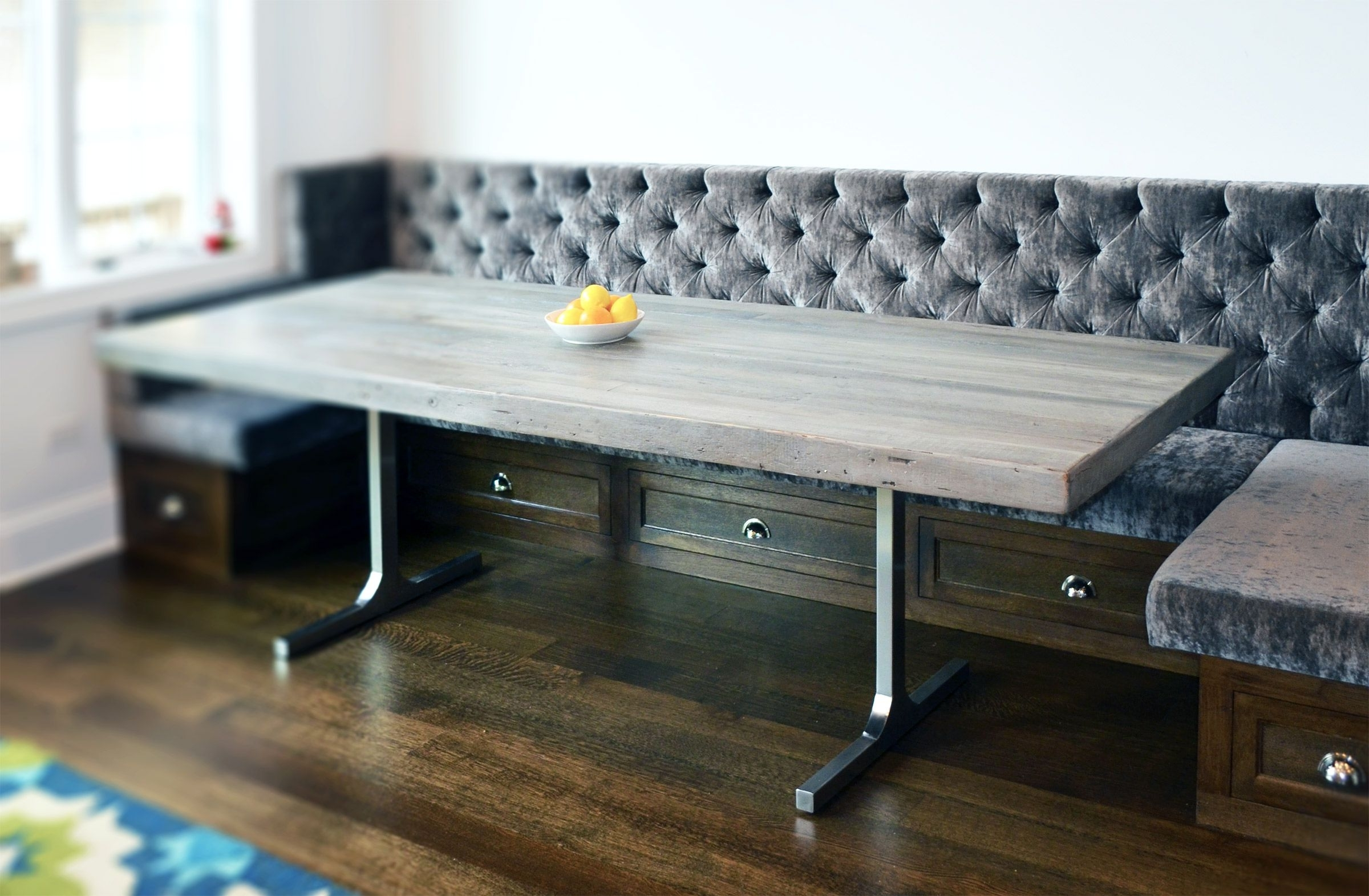 Recent Grey Dining Tables Pertaining To Hand Crafted Reclaimed Wood Rustic Grey Dining Tableabodeacious (Gallery 20 of 25)