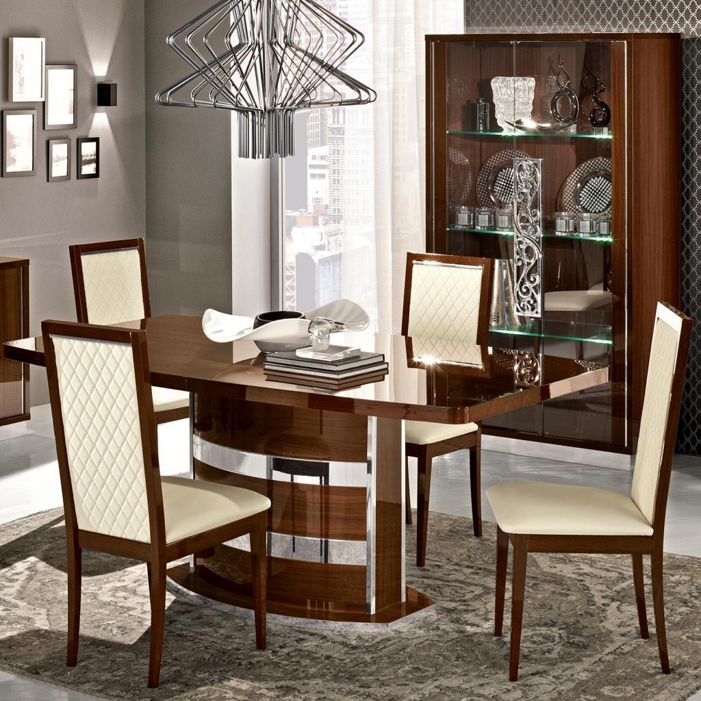 Recent High Gloss Dining Tables Pertaining To Caligula Italian Walnut High Gloss Extending 2  (View 15 of 25)