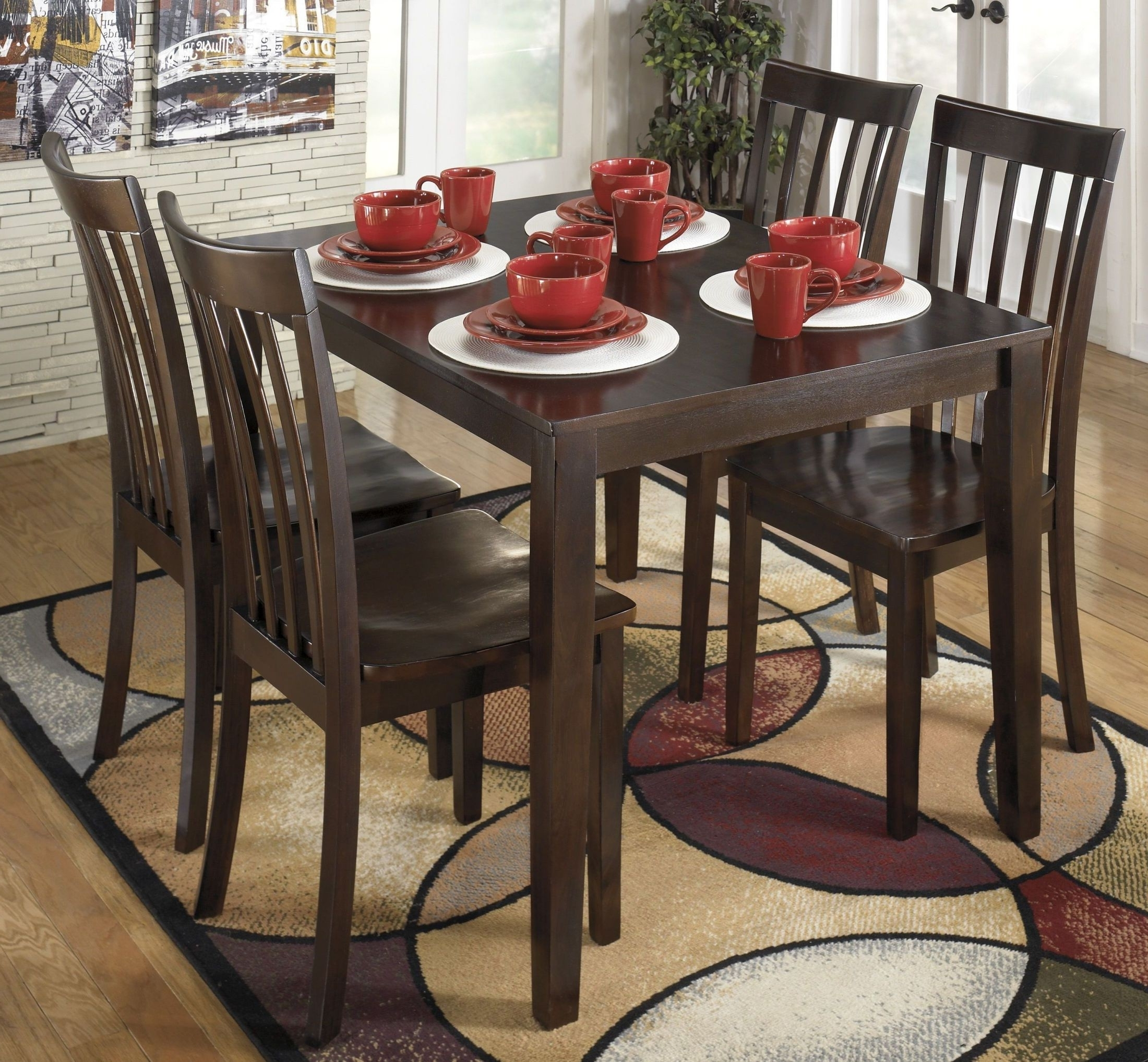 Recent Hyland 5 Piece Counter Sets With Bench Intended For Signature Designashley Hyland 5 Piece Casual Dining Set – Hyland (View 8 of 25)