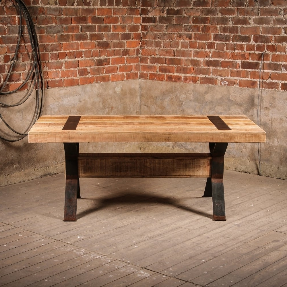 Recent Industrial Style Dining Tables Within J.n (View 19 of 25)