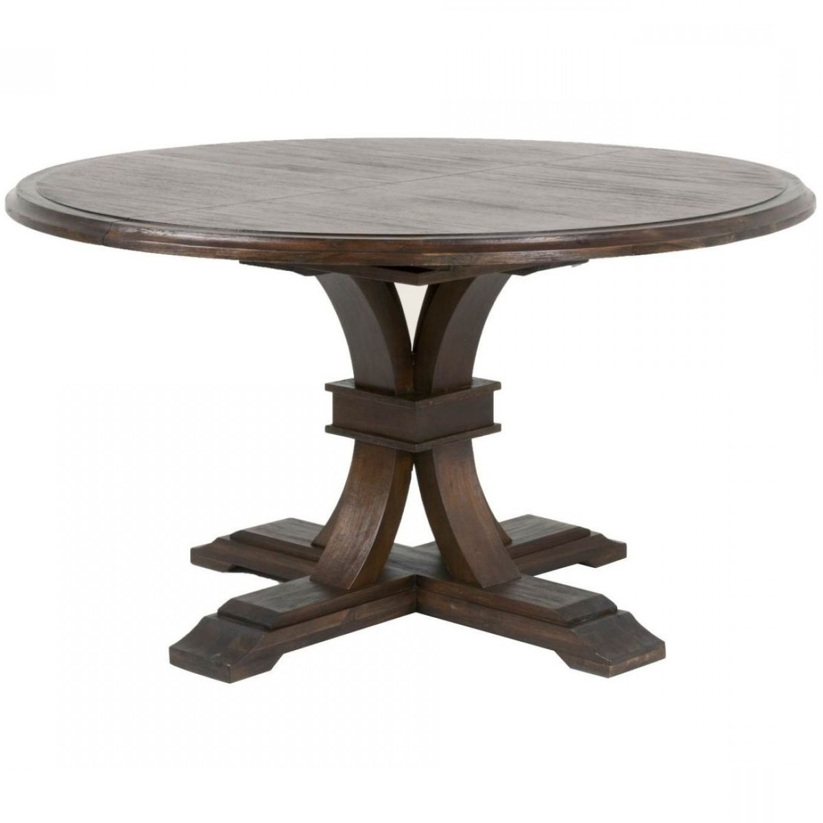 Recent Jaxon Grey Round Extension Dining Tables within Orient Express Traditions Devon Round Extension Dining Table For