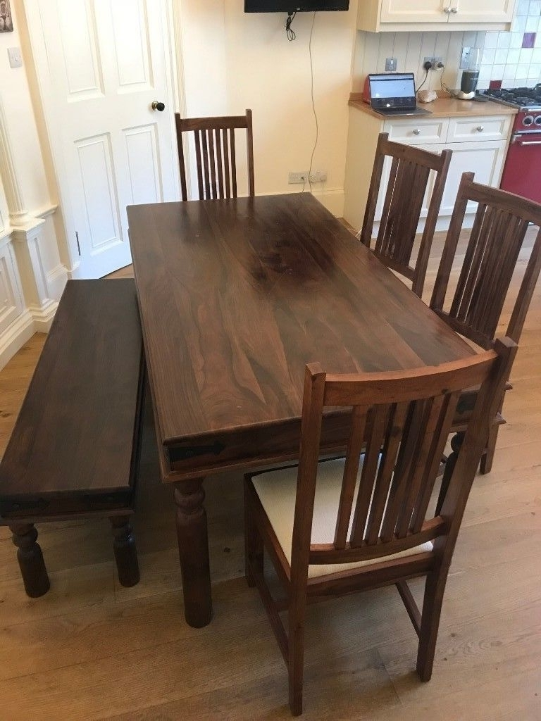 Recent John Lewis Maharani 6 Seater Dining Table, Bench And 4 Chairs (View 17 of 25)