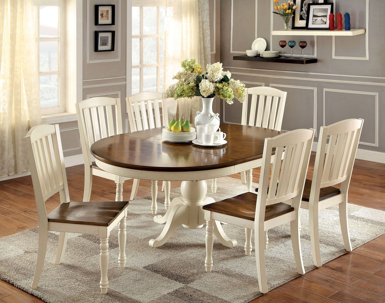 Recent Kitchen Small Black Dining Table Set Table And 6 Chair Set Black regarding Dark Wood Dining Tables And 6 Chairs