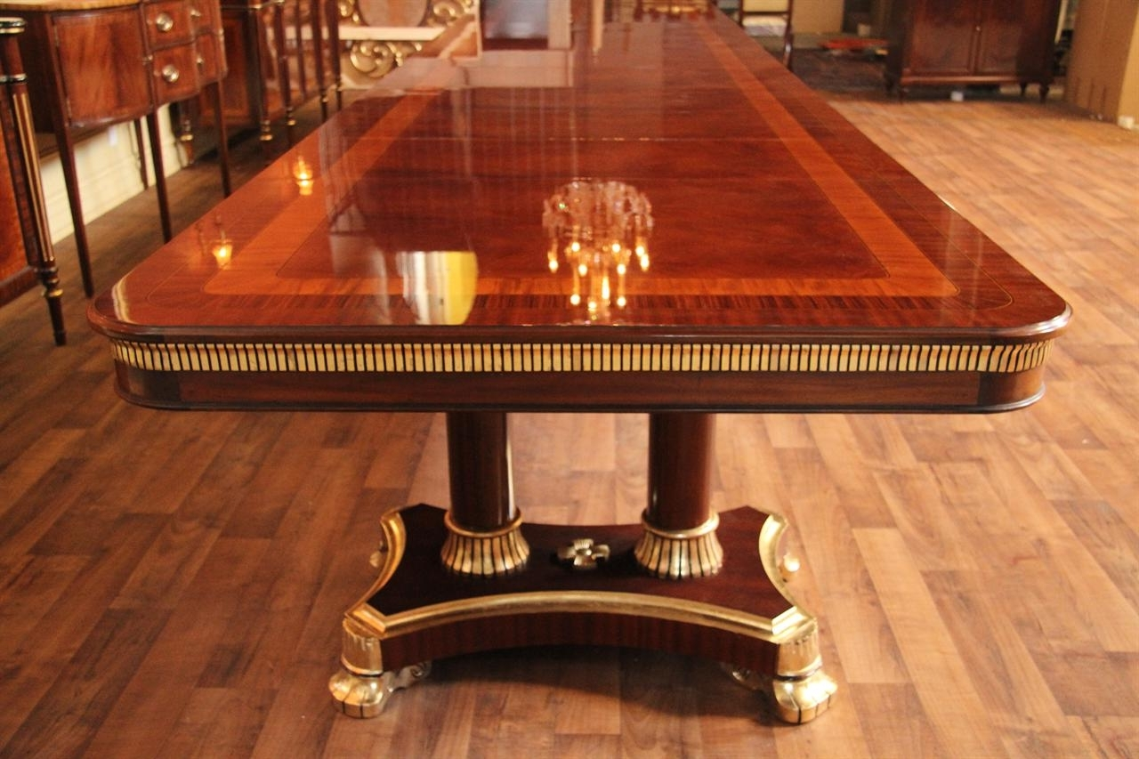 Recent Mahogany Dining Table ,designer Furniture, High End Extra Large Intended For Mahogany Dining Table Sets (View 7 of 25)