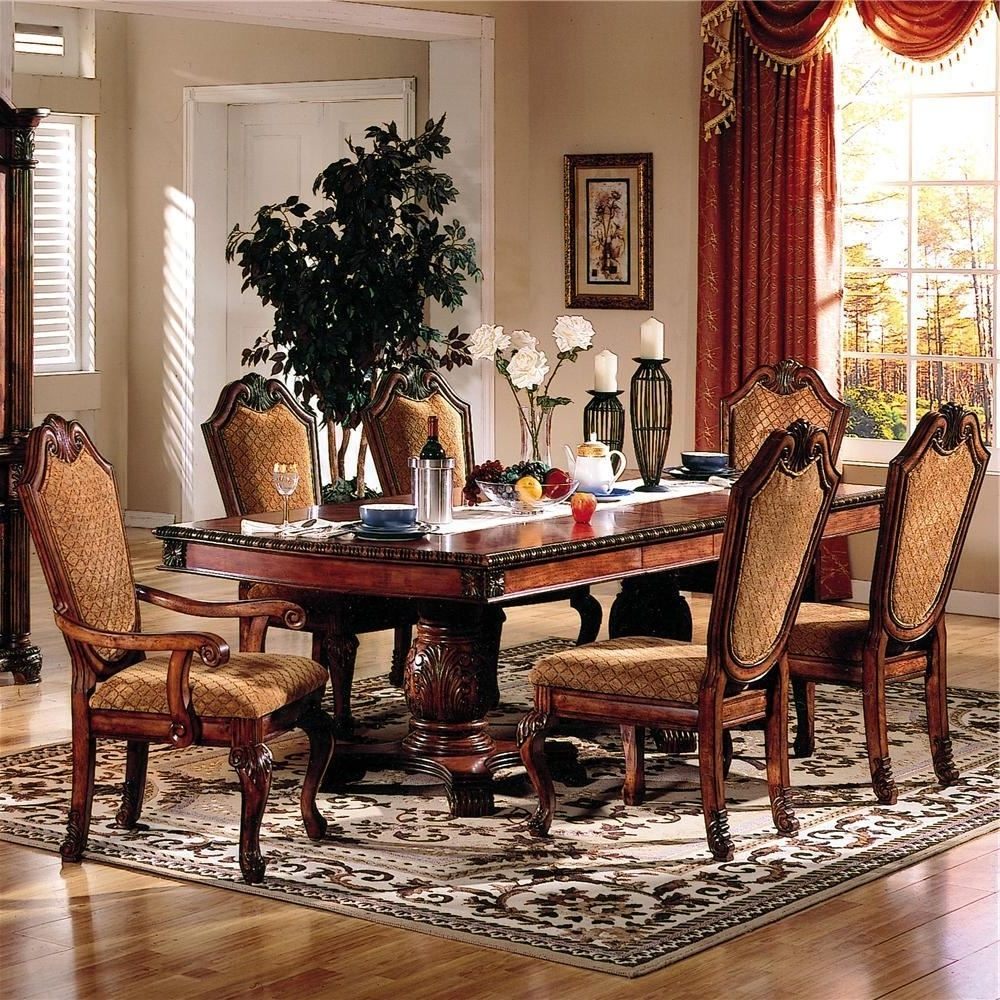 Recent Norwood 6 Piece Rectangular Extension Dining Sets With Upholstered Side Chairs In Plain Design Dining Room Sets With Fabric Chairs Norwood 6 Piece (View 16 of 25)