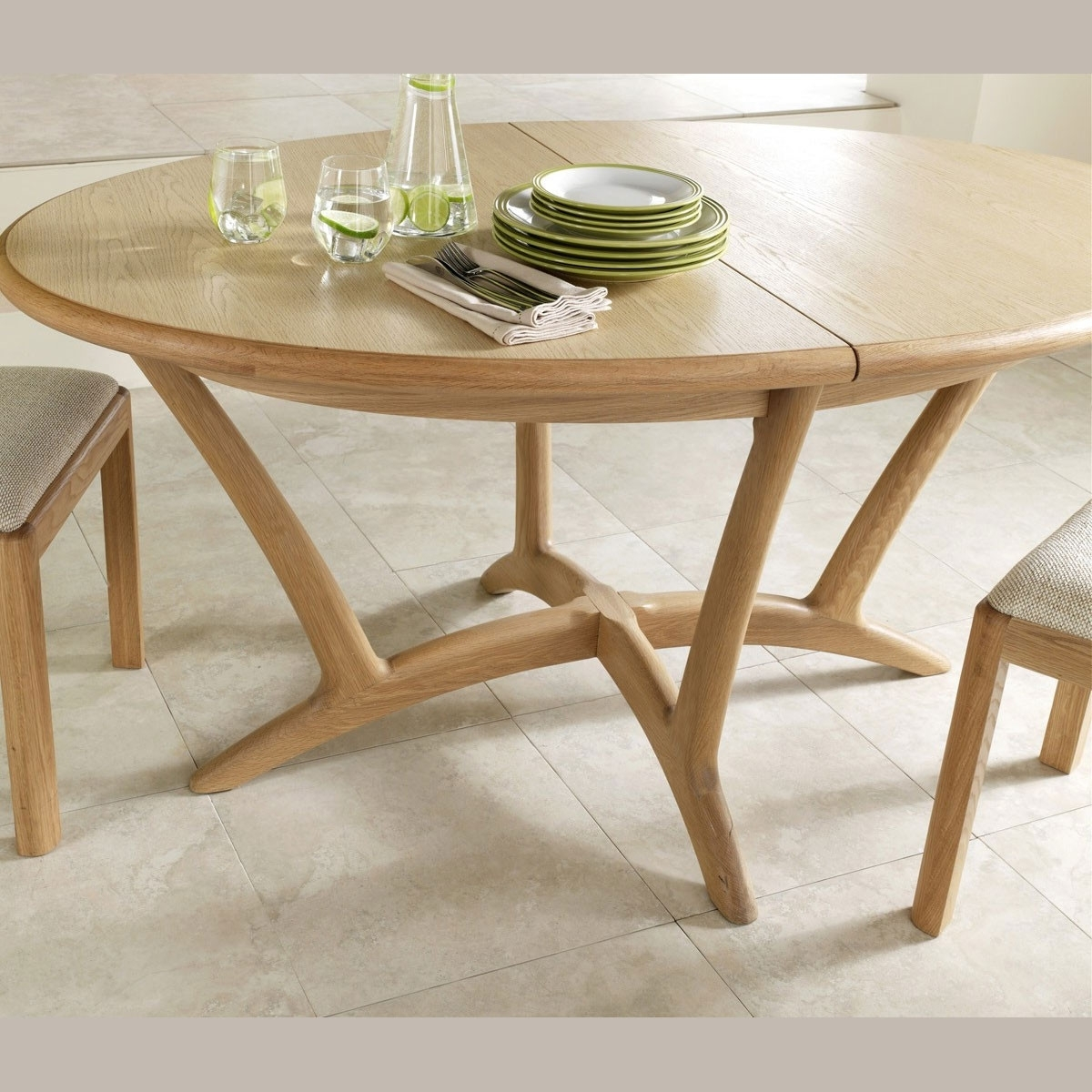 Recent Oslo Light Oak Oval Extending 210Cm Dining Table In Extending Oak Dining Tables (View 13 of 25)