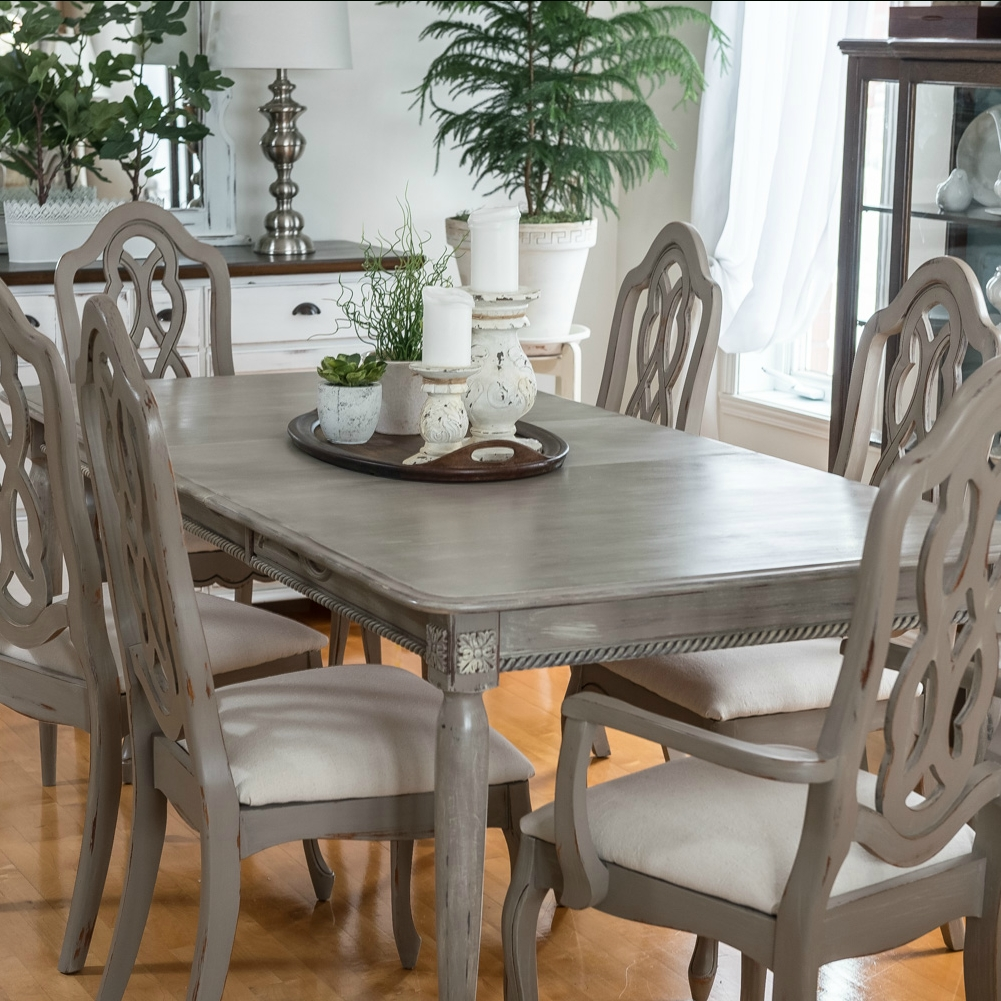 Recent Painted Dining Tables With Dining Table Makeover With Paint And Moulding  Orphans With (View 22 of 25)