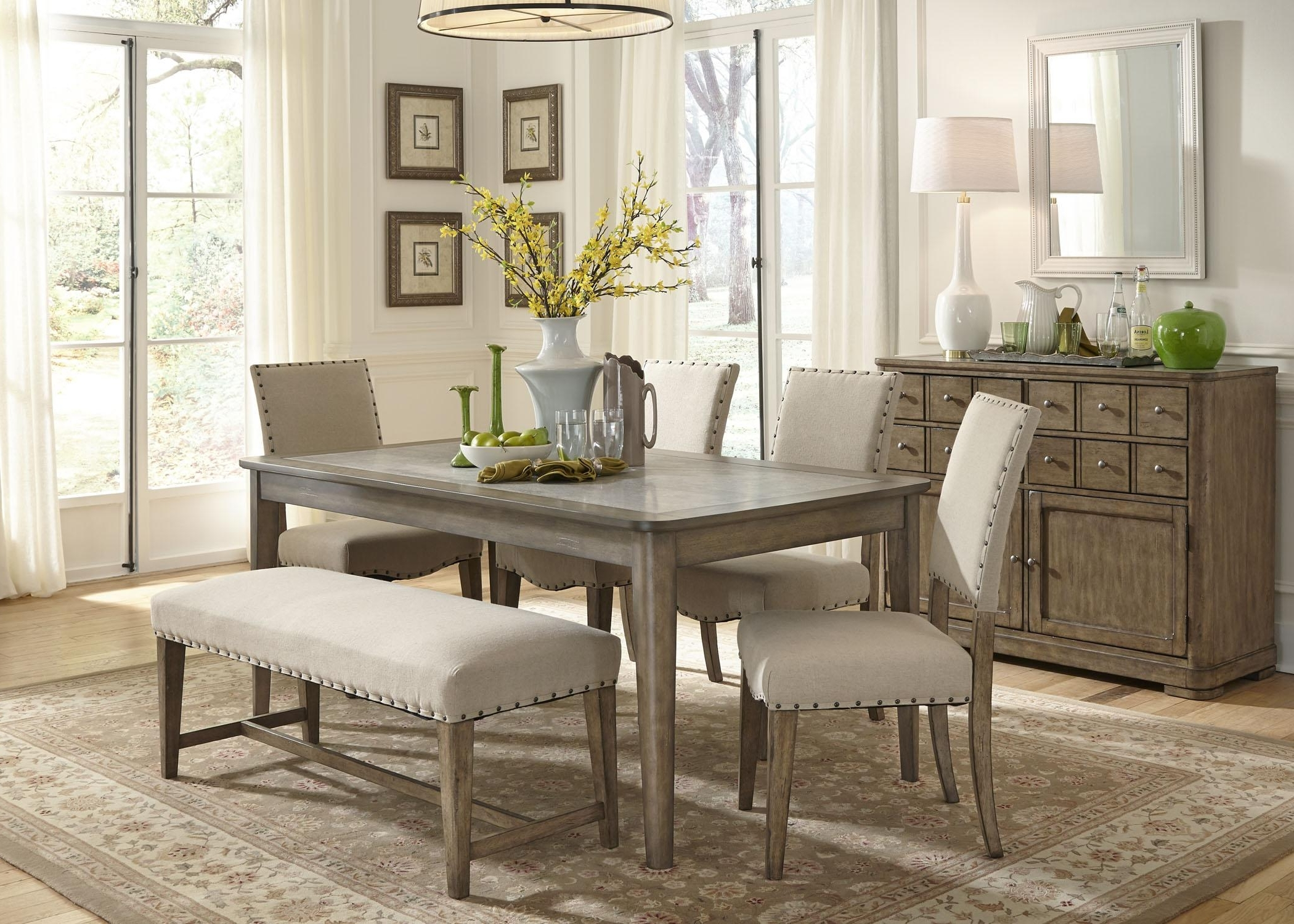 Recent Palazzo 6 Piece Rectangle Dining Sets With Joss Side Chairs with 6 Piece Dining Room Set With Bench - Image Dining Room Cacheimages.co