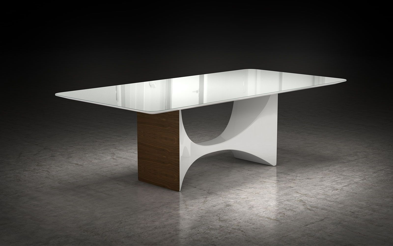 Recent Round Half Moon Dining Tables Throughout The Camden Dining Table Sports A Highly Sculptural Design, From The (View 19 of 25)
