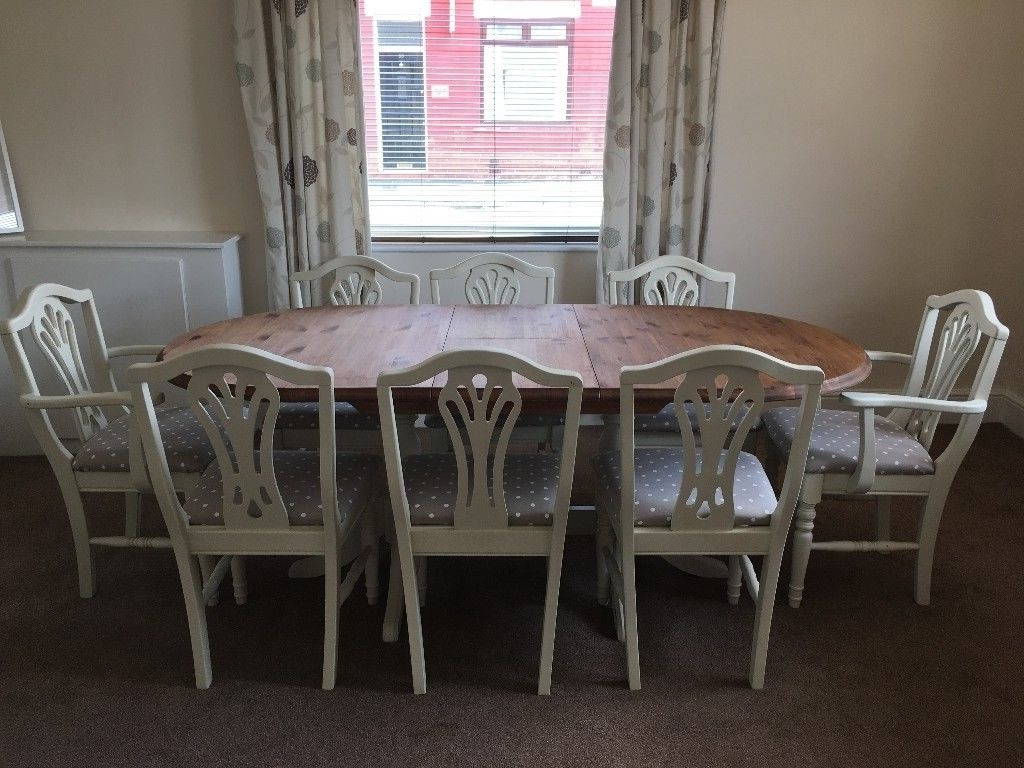 Recent Shabby Chic, Extendable Dining Table And Chairs (View 13 of 25)