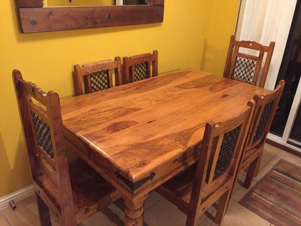 Recent Sheesham Dining Table And 6 Chairs (View 17 of 25)