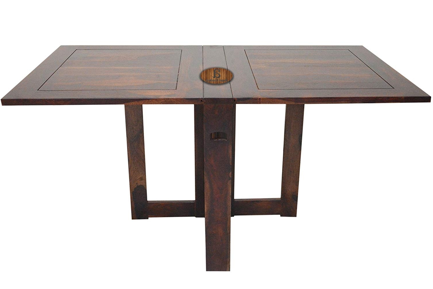 Recent Sheesham Dining Tables 8 Chairs With Regard To Angel Furniture Sheesham Wood Folding Dining Table Plain Top – Honey (View 19 of 25)