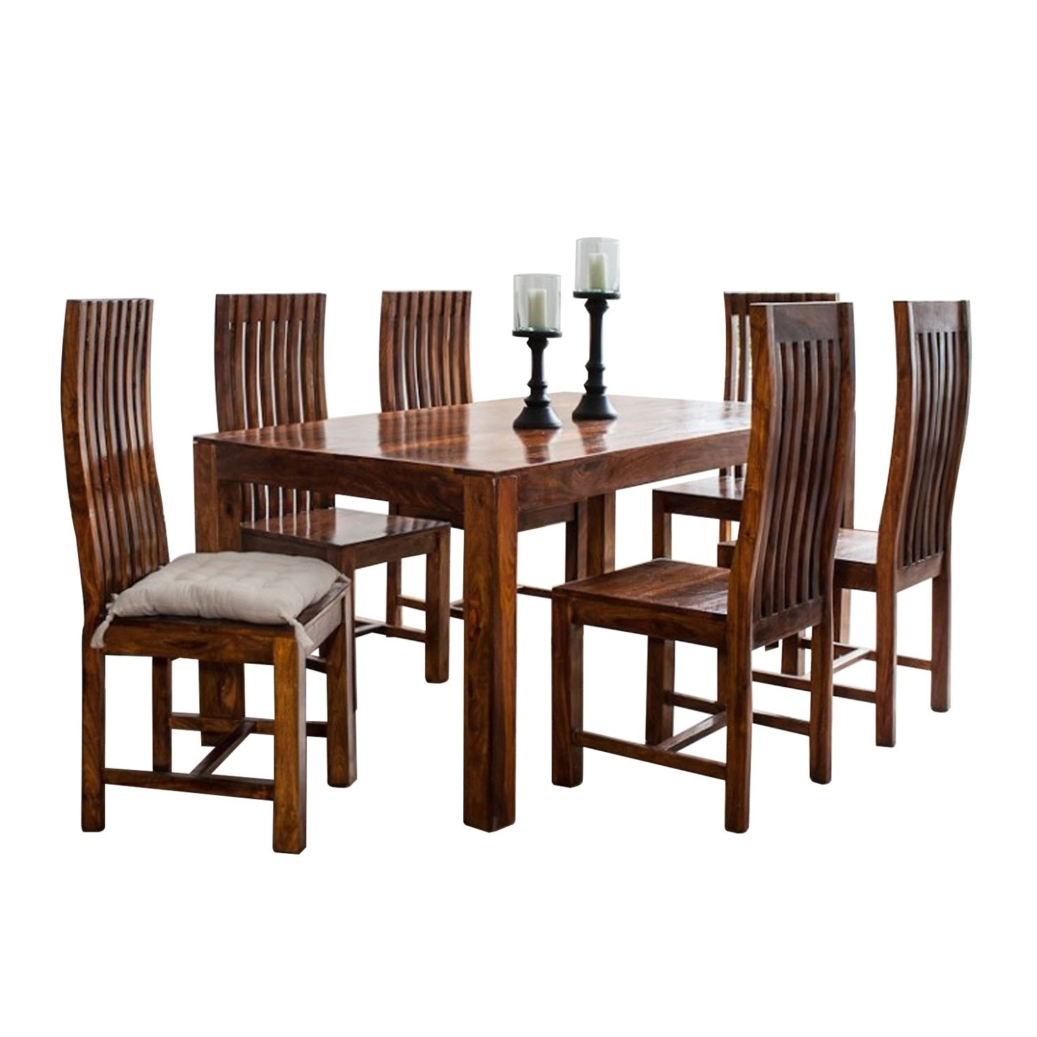 Recent Sheesham Dining Tables And Chairs With Regard To Sheesham Wood Dining Table Red Dining Set (View 18 of 25)