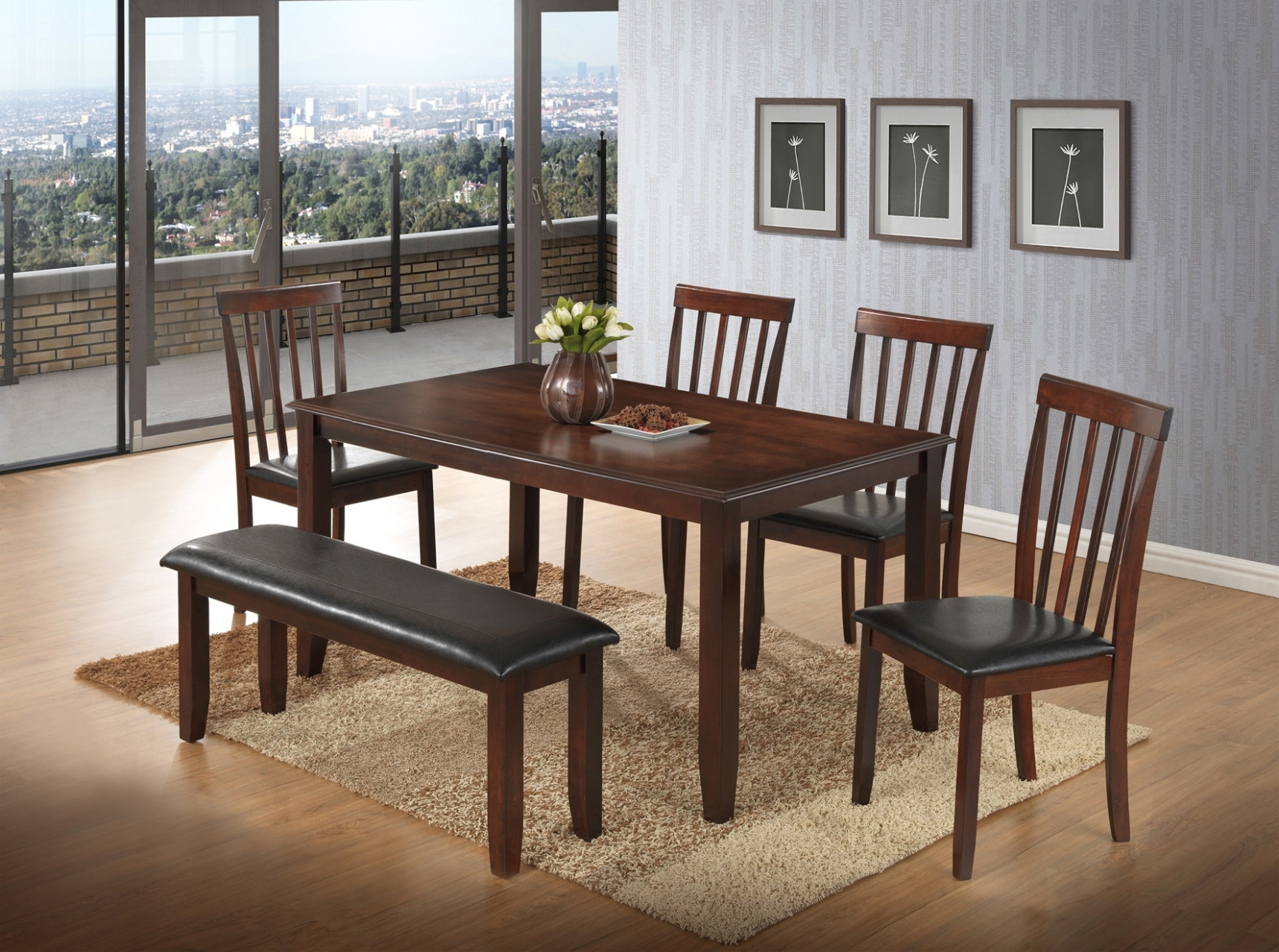 Recent Tables, Chairs, & Servers - Hello Furniture with regard to Jaxon 5 Piece Extension Round Dining Sets With Wood Chairs