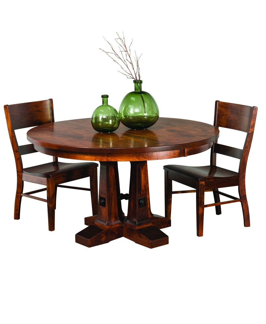 Recent Vienna Dining Tables In Vienna Round Dining Table – Amish Direct Furniture (View 9 of 25)