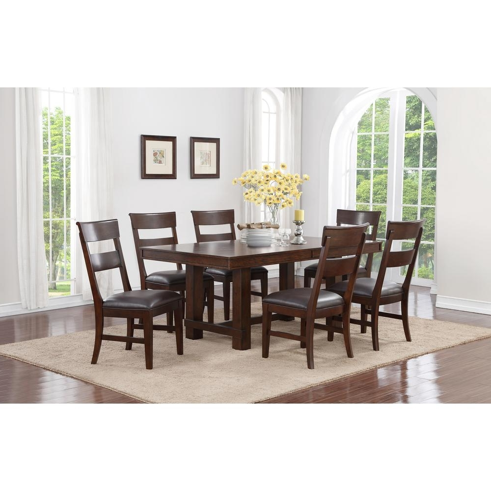 Recent Walnut Dining Tables And Chairs For Craft + Main Alden 7 Piece Walnut Dining Set Ads717 – The Home Depot (View 14 of 25)
