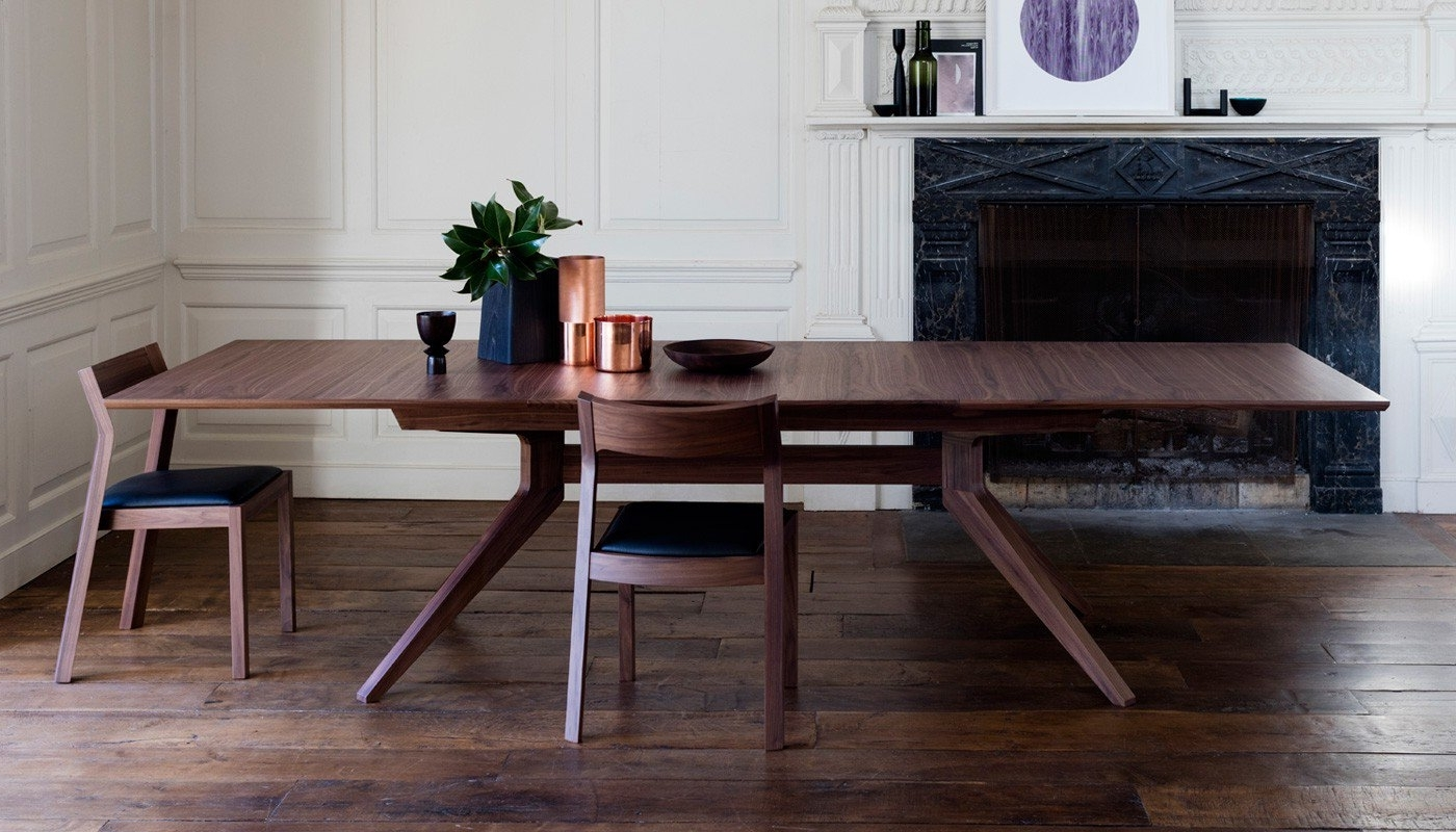 Recent Walnut Dining Tables And Chairs Inside Case Cross Extending Dining Table (View 15 of 25)