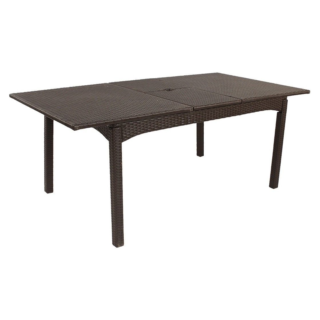 """Recent Wellington Wicker 76"""" Extendable Patio Dining Table (View 17 of 25)"""