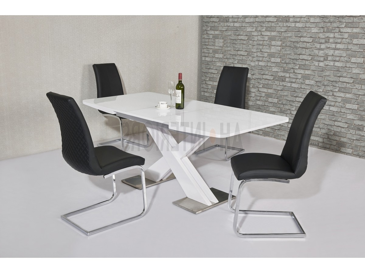 Recent White Gloss Dining Tables 120Cm In Niobe White High Gloss Dining Table Available In 2 Sizes (View 10 of 25)
