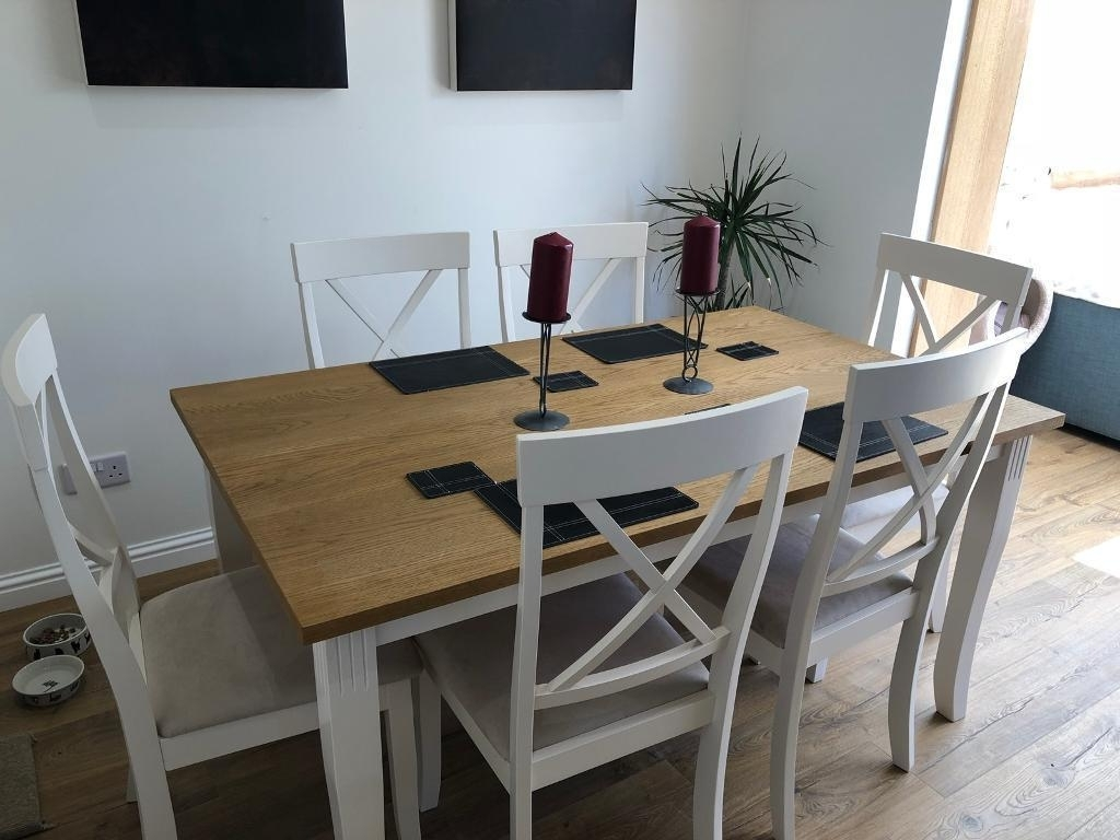 Recent Zara Dining Table With 6 Chairs  Only 3 Weeks Old  Too Large For Throughout Dining Room Chairs Only (View 13 of 25)