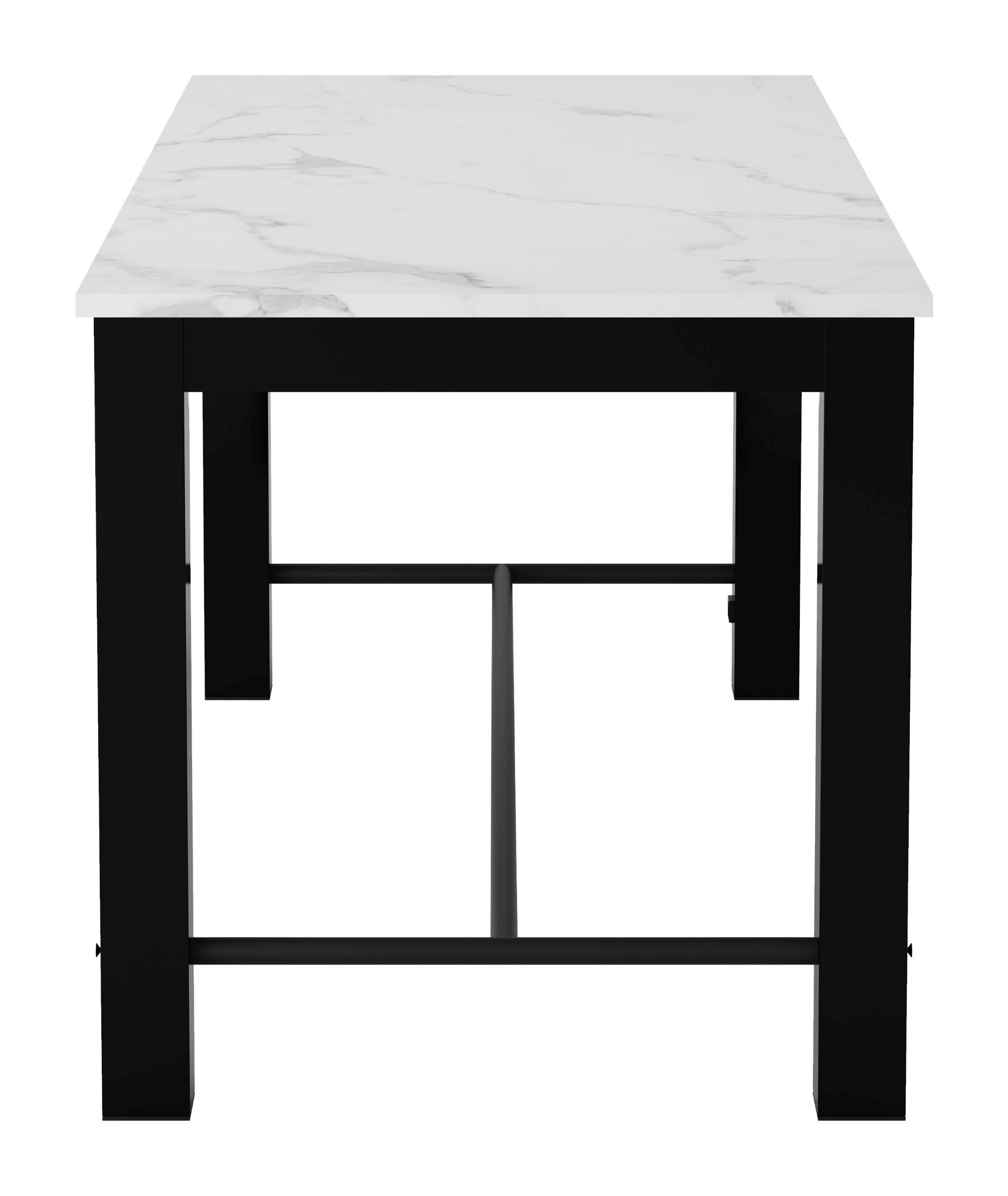 Recent Zuo Modern Dawson Dining Table (Stone & Matte Black) – 100975 Throughout Dawson Dining Tables (View 16 of 25)