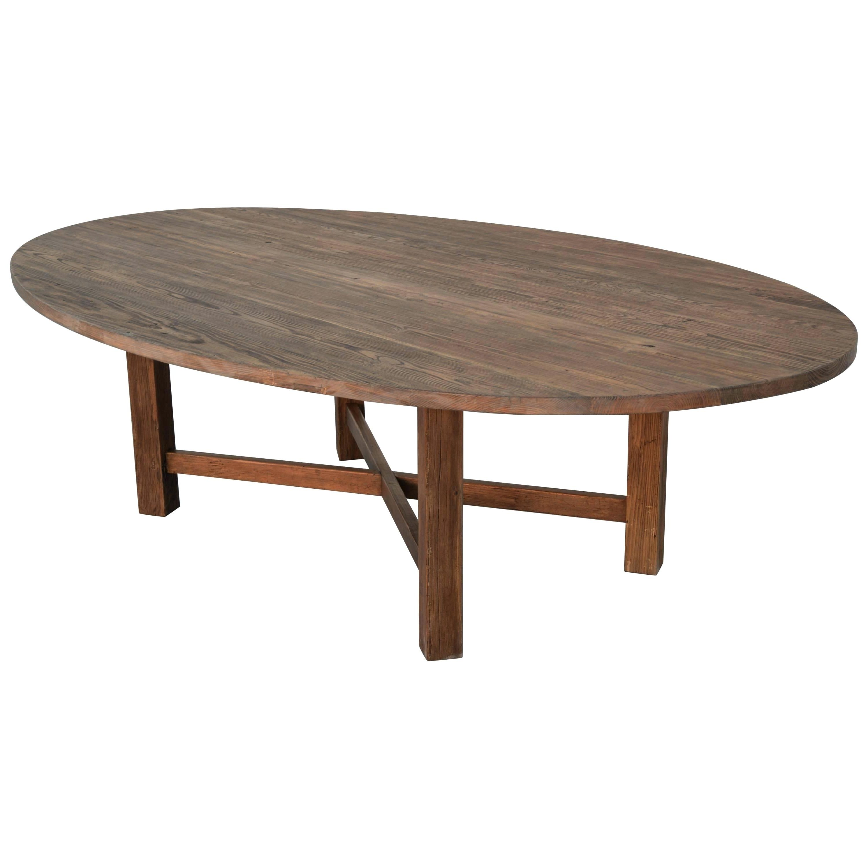 Reclaimed Wood Oval Dining Table Oval Dining Table In Reclaimed With Best And Newest Oval Reclaimed Wood Dining Tables (View 17 of 25)