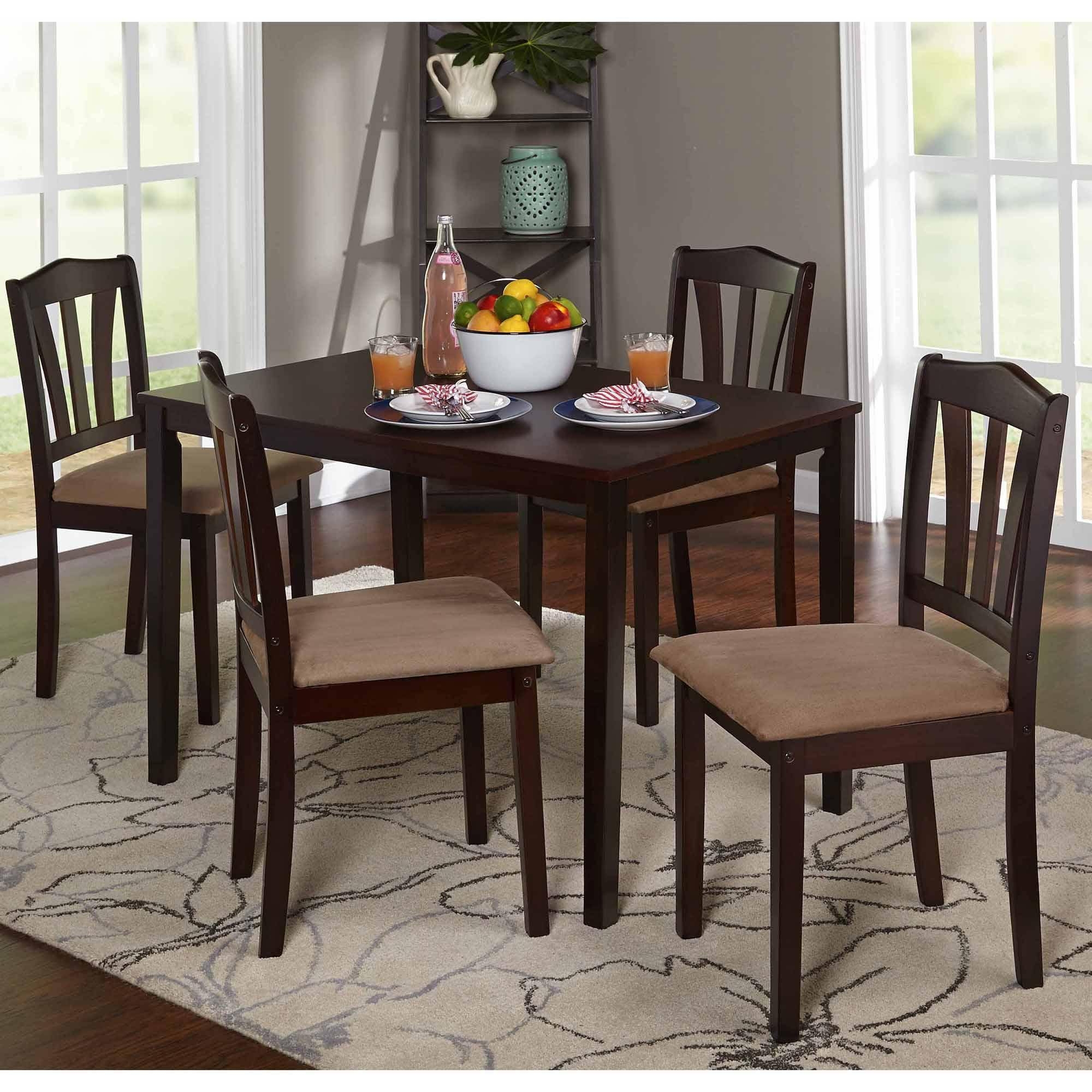 Rectangular Dining Tables Sets For Best And Newest Metropolitan 5 Piece Dining Set, Multiple Colors – Walmart (View 20 of 25)