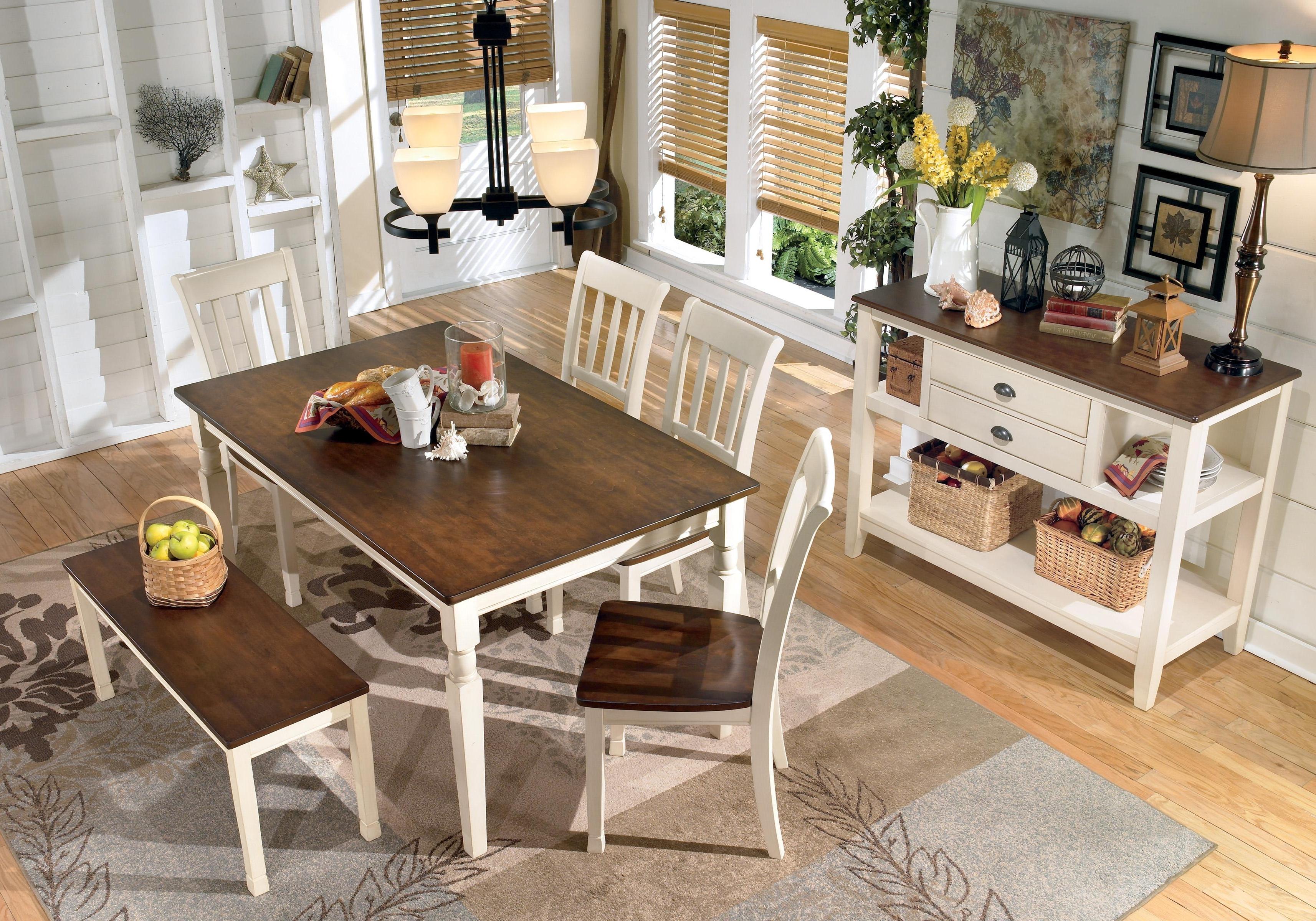Rectangular Dining Tables Sets In Most Up To Date Signature Designashley Whitesburg 5 Piece Rectangular Dining (View 19 of 25)