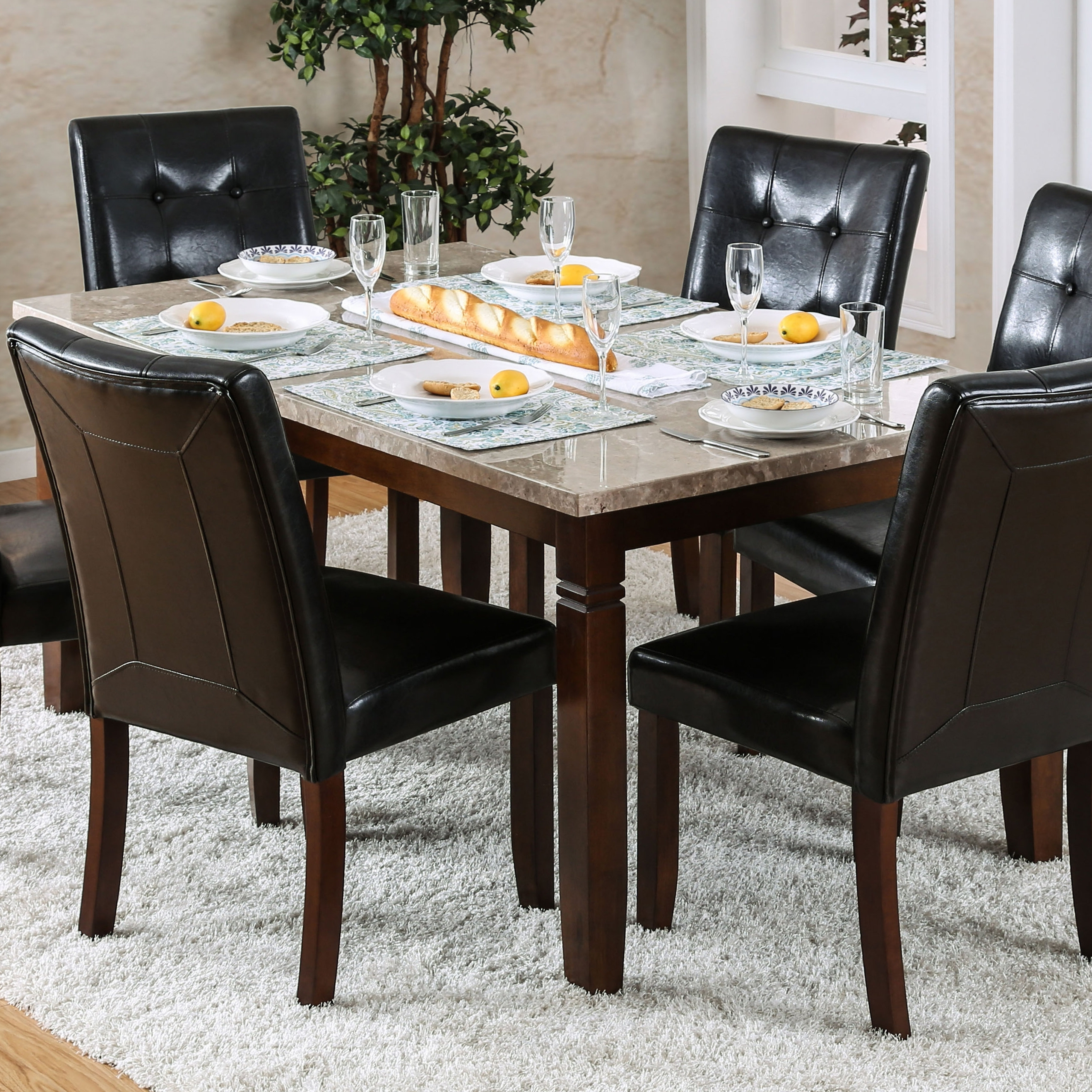 Red Barrel Studio Gibbons 7 Piece Dining Set (View 17 of 25)