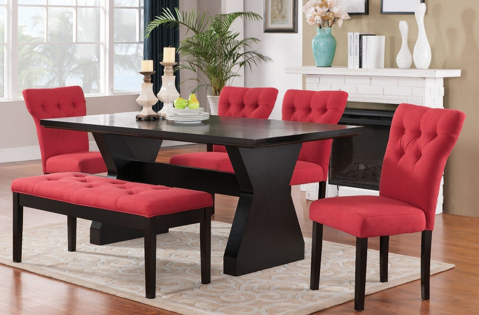 Red Dining Chairs For Your Dining Rooms – Home Decor Ideas With Fashionable Red Dining Chairs (View 19 of 25)