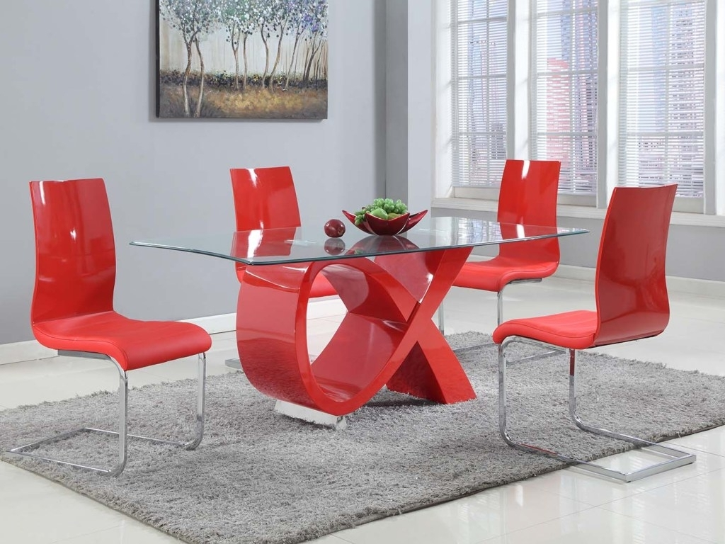 Red Dining Table Sets Inside Most Popular  (View 16 of 25)