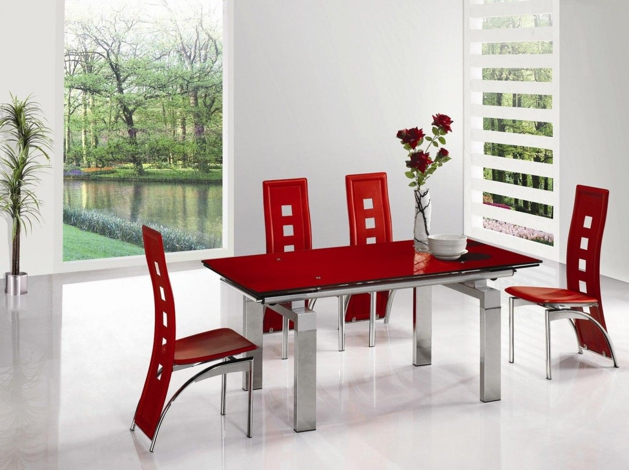 Red Dining Table Sets With Regard To Most Recently Released Red Dining Table And Chairs On Decorating Home Ideas Teetotal Red (View 20 of 25)