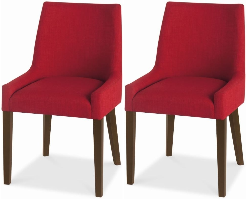 Red Dining Tables And Chairs Pertaining To Well Liked Buy Bentley Designs Ella Walnut Red Scoop Back Dining Chair (Pair (View 16 of 25)