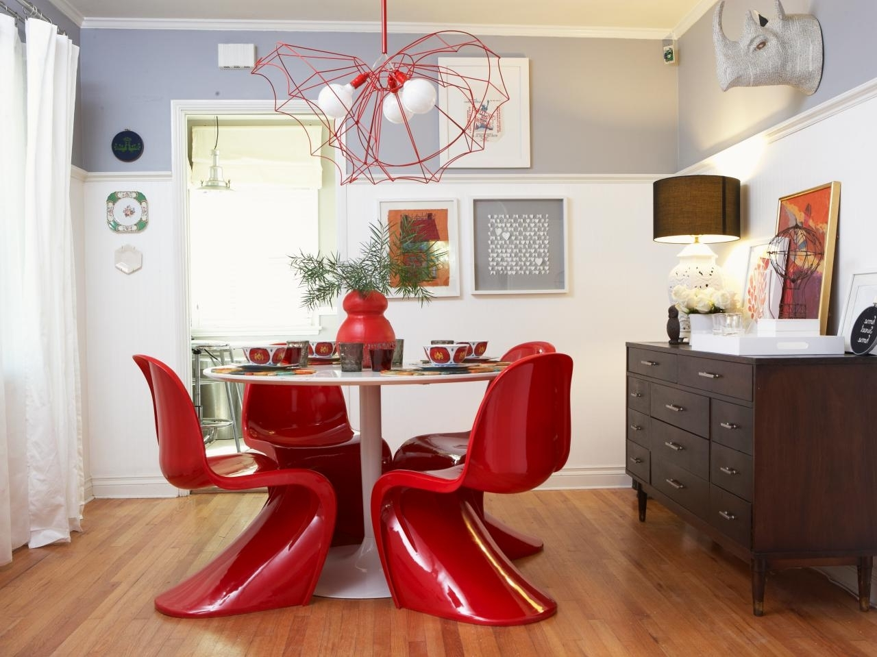 Red Gloss Dining Tables Inside Popular Refresh Your Home With Fall 2015's Hottest Hues (View 12 of 25)